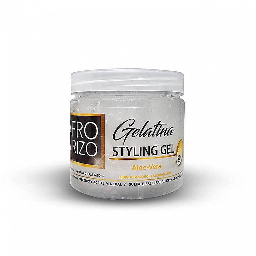 Afro & Rizo Styling gel with Aloe-Vera 16oz - RM Haircare