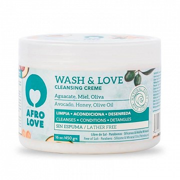 Wash & Love Cleansing Creme 16oz in RM Haircare
